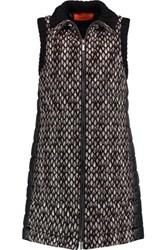 Missoni Crochet Knit And Quilted Shell Gilet Black