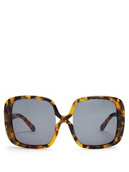 Karen Walker Marques Oversized Tortoiseshell Sunglasses