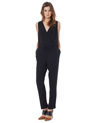 Sam Edelman Surplice Top Jumpsuit Black