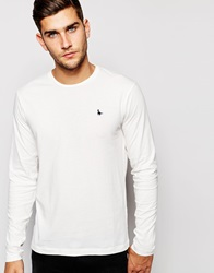 Jack Wills Rosewood T Shirt With Long Sleeves In White