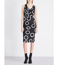 Anglomania Virginia Circle Print Poplin Dress Black W Ring