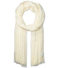 Echo Solid Crinkle Wrap Scarf White Sand Scarves