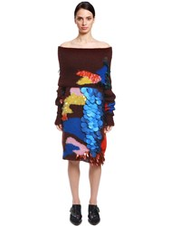 Delpozo Sequined Mohair And Silk Sweater Dress