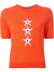 Holly Fulton Intarsia Knitted Top Yellow And Orange