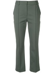 Sportmax Slim Fit Cropped Trousers Green