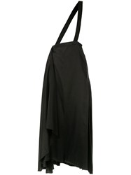 Aganovich Brace Detail Draped Skirt Black