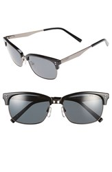 Men's Ted Baker London 55Mm Retro Sunglasses Black Gunmetal