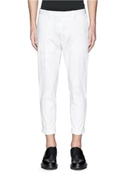 Dsquared Circle Applique Cavalry Twill Pants White