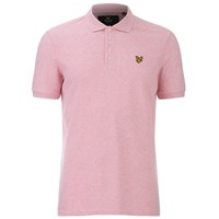 Lyle And Scott Vintage Men's Polo Shirt Mid Pink Marl