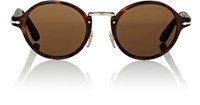 Persol Men's Round Sunglasses Brown