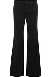 J Brand Mona Cotton Blend Wide Leg Pants Black