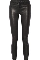 L'agence Aurelie Leather Skinny Pants Black