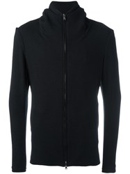 Forme D'expression Zipped Hoodie Black