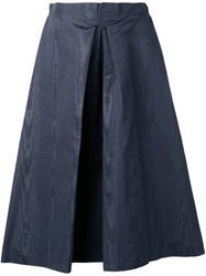 Nina Ricci Inverted Pleat Skirt Grey