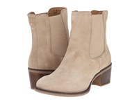 Hush Puppies Landa Nellie Light Taupe Suede Women's Pull On Boots Tan