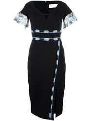 Peter Pilotto Cady Lace Band Midi Dress Black