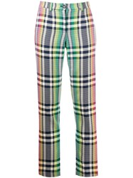 Talbot Runhof High Waisted Check Trousers 60
