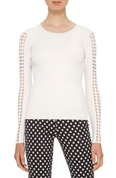 Akris Punto Women's Cutout Dot Detail Sweater