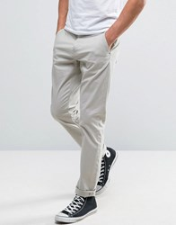 Only And Sons Slim Fit Chinos In Light Grey Porpoise Grey