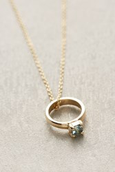 Anthropologie Birthstone Ring Choker Sky