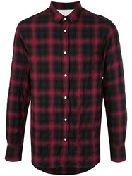 Officine Generale Checked Shirt Red