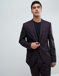 Selected Homme Slim Patch Pocket Suit Jacket In Check Burg Check Red