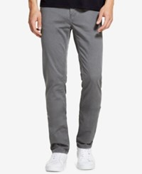Dkny Men's Relaxed Straight Fit Stretch Twill Pants Smoked Pearl
