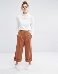 Sportmax Code Mana Cropped Trousers 003 Tobacco Brown