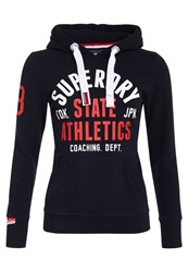Superdry State Athletics Track And Field Hoodie Navy