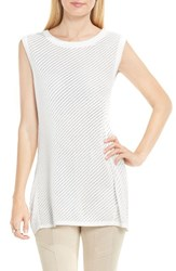 Vince Camuto Women's Two By Pointelle Stitch Sweater New Ivory