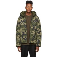 Nobis Reversible Green Oliver Puffer Jacket