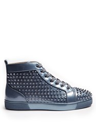 Christian Louboutin Louis Orlato Spike Embellished High Top Trainers Grey