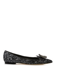 Dolce And Gabbana Bellucci Embellished Sequin Flats