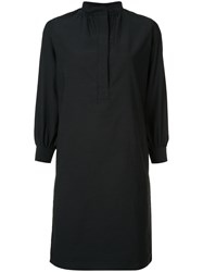 Atlantique Ascoli Mandarin Neck Shirt Dress Black