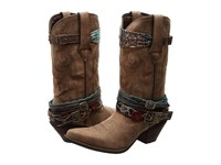Durango Crush 12 Accessorize W Removable Straps Brown Cowboy Boots