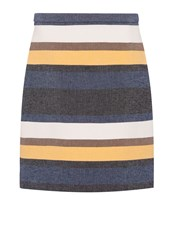 Hallhuber Striped Skirt Multi Coloured