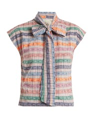 Ace And Jig Page Neck Tie Cotton Top Multi Stripe