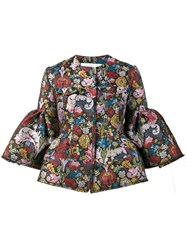 Marques Almeida Marques'almeida Floral Brocade Jacket With Cropped Sleeves Women Polyester Acetate Cupro M