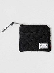 Topman Herschel Black Quilted Johnny Wallet