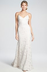 Women's Katie May Convertible Cap Sleeve Lace Low Back Gown