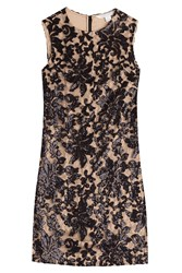 Diane Von Furstenberg Sequined Lace Dress Brown