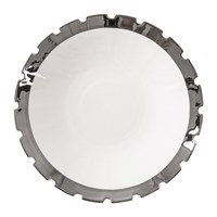Diesel Living With Seletti Machine Collection Soup Plate Design 3 Silver