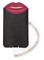 Charlotte Olympia 'Pouty' Phone Sleeve Black