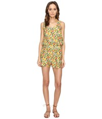 Stella Mccartney Iconic Prints All In One Romper Cover Up Yellow Citrus Print Women's Jumpsuit And Rompers One Piece
