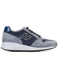 Hogan Chunky Sole Sneakers Blue