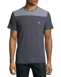 Original Penguin Engineered Stripe Tee Black