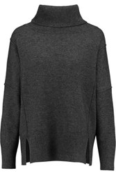 Madeleine Thompson Giles Wool And Cashmere Blend Turtleneck Sweater Charcoal