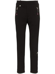 Alexander Mcqueen Zip Cuff Cotton Sweatpants Black