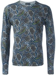 Etro Printed Jumper Blue