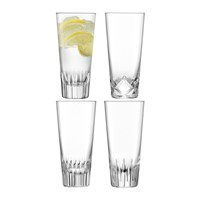 Lsa International Tatra Highball Glass Set Of 4 Assorted